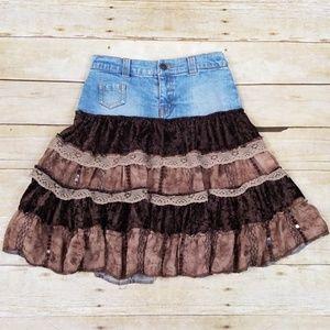 The Children's Place Stretch Boho Denim Skirt
